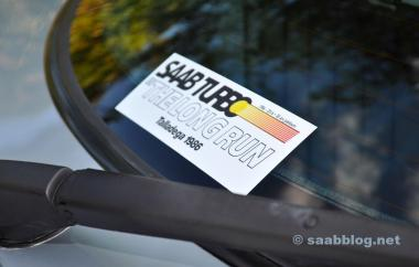 Ook passend: Saab Talladeg-jubileumsticker