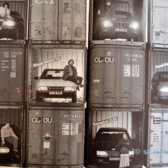 Saab Vs. Les concurrents. Autobild 1986.