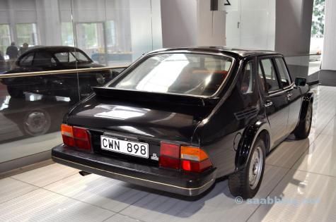 """Projekt Cäcilia. Saab 9000 """"Mule"""" im Saab Museum."""