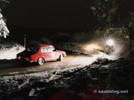 Nacht, durch Eis und Schnee