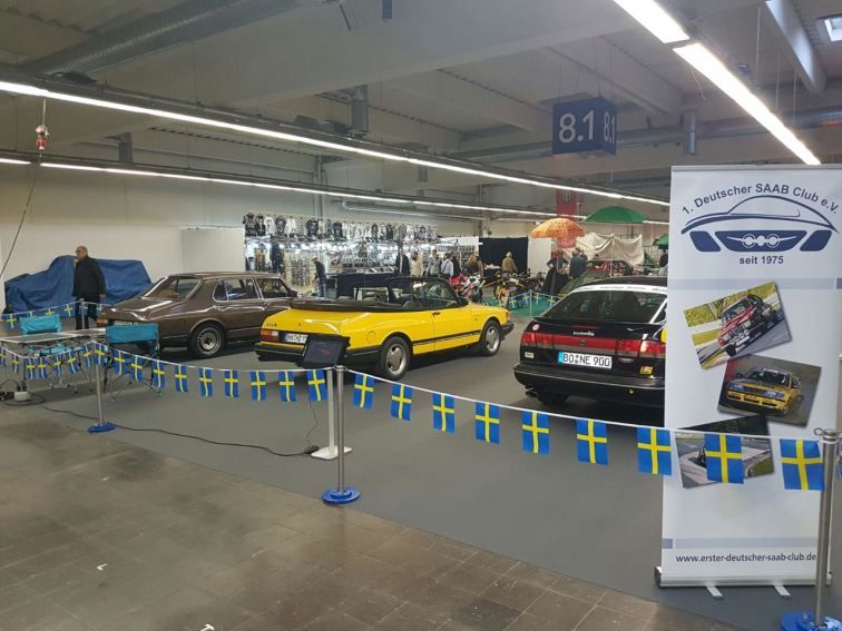 Messestand 2016 Motor Show. Bild: 1.deutscher Saab Club