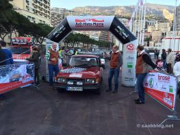 Im Ziel in Monaco