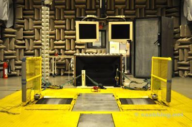 Impressão do laboratório de som.