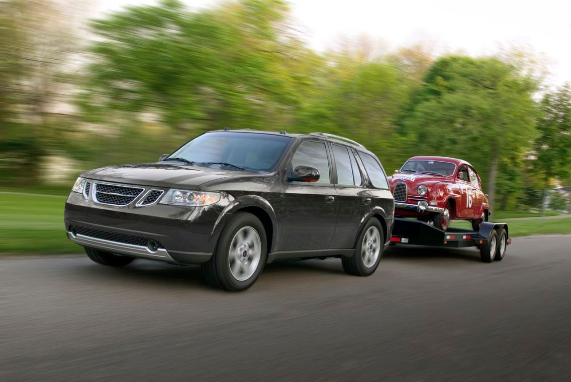 Vehículo de tracción con logotipo de Saab. Imagen: Saab Automobile AB