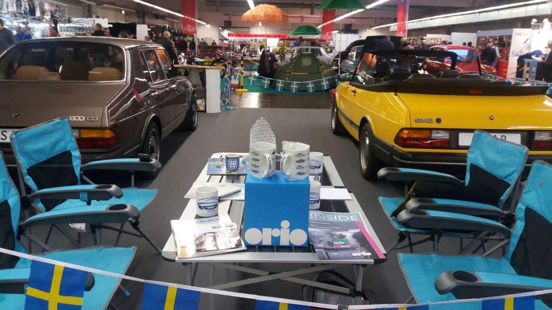 Orio visite le salon automobile d'Essen. Crédit photo: 1. Club Saab allemand.