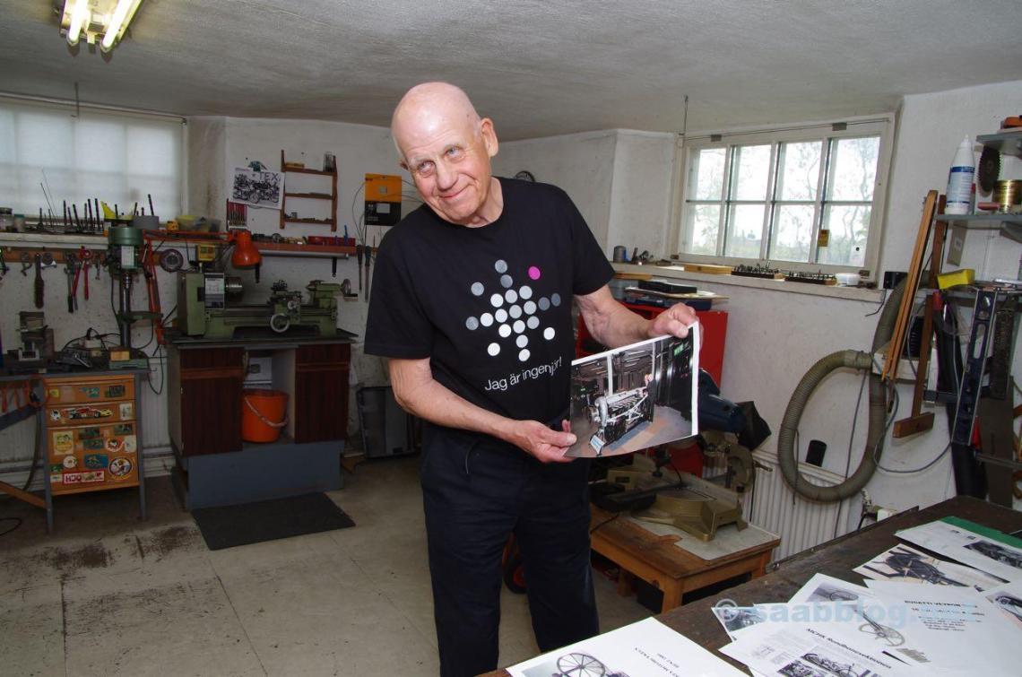 Per Gillbrand in seiner Werkstatt
