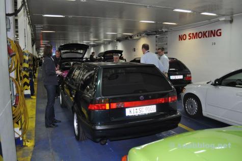 Outra peça única. Saab 9000 carro da família Lafrentz