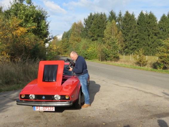 Ein Saab als Fotoobjekt. Bild: Thorsten Ziehm