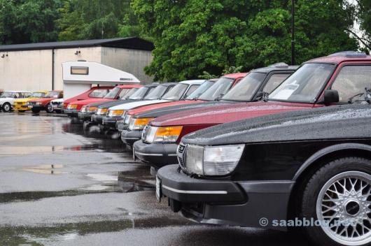 Saab Festival 2010. Im Normalfall ist im Juni tolles Wetter. Aber nicht immer.