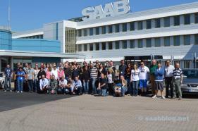 Pre Tour 2013. Da gab es noch das Saab Schild am Haupteingang.