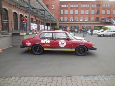 Nossa equipe Saab 99, apoiada pela Orio Deutschland GmbH.