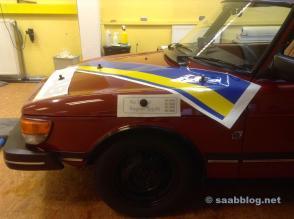 ... do Saab 99 de Björn Eklund ..