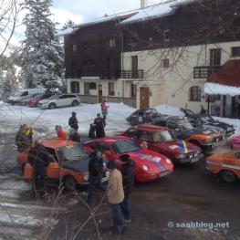 Das Hotel des 3 Vallées ist für Rallye Fahrer...