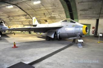 Die Saab 29 Tunnan wurde ab 1950 produziert und war das erste Saab Flugzeug das die Schallmauer durchbrach.