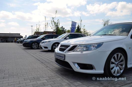 Saabs on the outdoor area