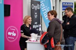 Frau Gürel von Orio Deutschland im Kundengespräch
