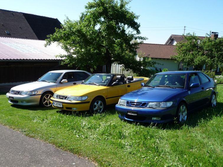 O grupo Saab 9-3 3 de Hans. Foto: Hans