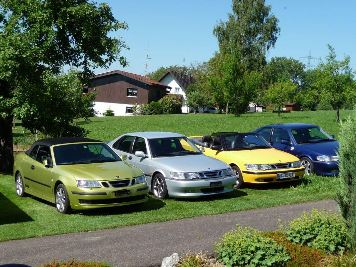 Claro, 3 Saabs não são suficientes. Um 9-3 II também está incluído. Foto: Hans