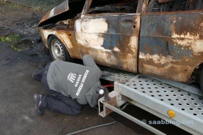 Het Saab-wrak opladen, Saab-Volvo-solidariteit.