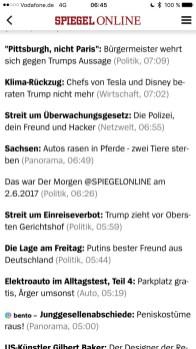 Skärmdump av Spiegel.de