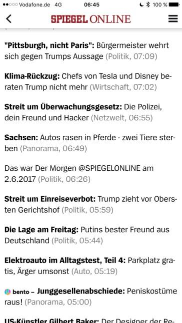 Screenshot di Spiegel.de