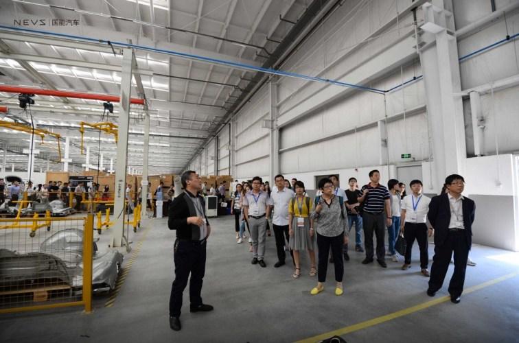 September 2017. Rundgang durch die NEVS Fabrik in Tianjin. Photo Credit: NEVS