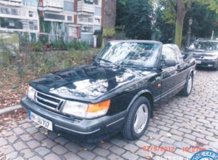 Saab 900 robado en Hamburgo.