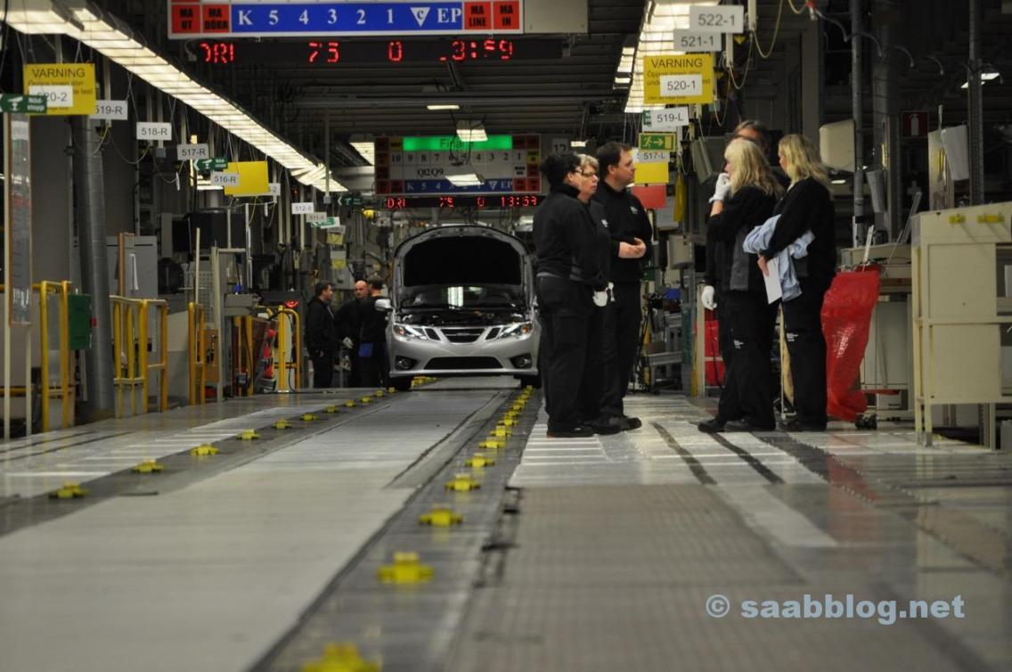 Saab production line