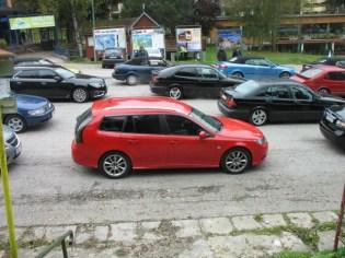 Eingereiht bei der Saab Session Slovakia 2016 fühlen sich die Saabs sichtlich wohl