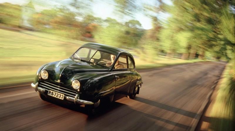 Saab 92 på vägen