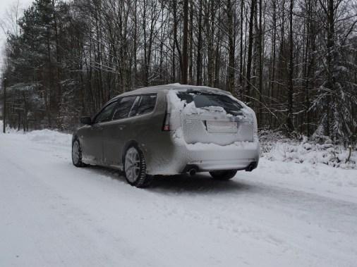 Heiko und sein V6 im Schnee