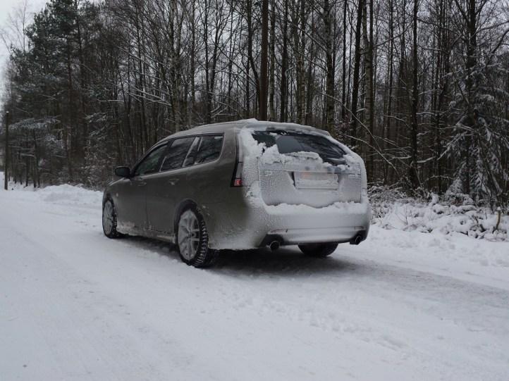 Heiko och hans V6 i snön