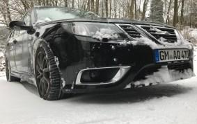 Saab 9-3 nella neve