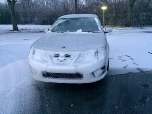 Nach dem Schneesturm auf der Autobahn. 9-3 von Kay