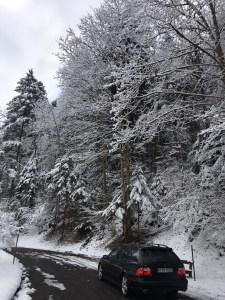 Saab unterwegs im Winter. Bild von Martin