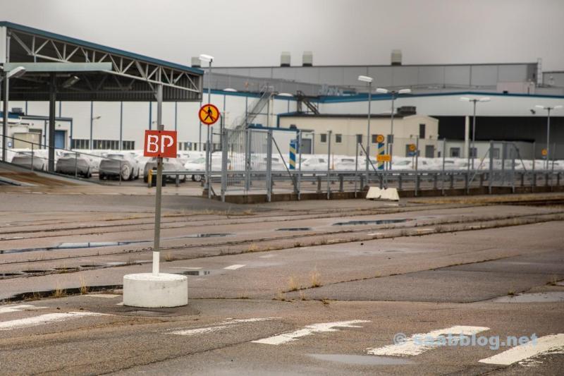 Trollhättan, alte Saab Fabrik April 2018.