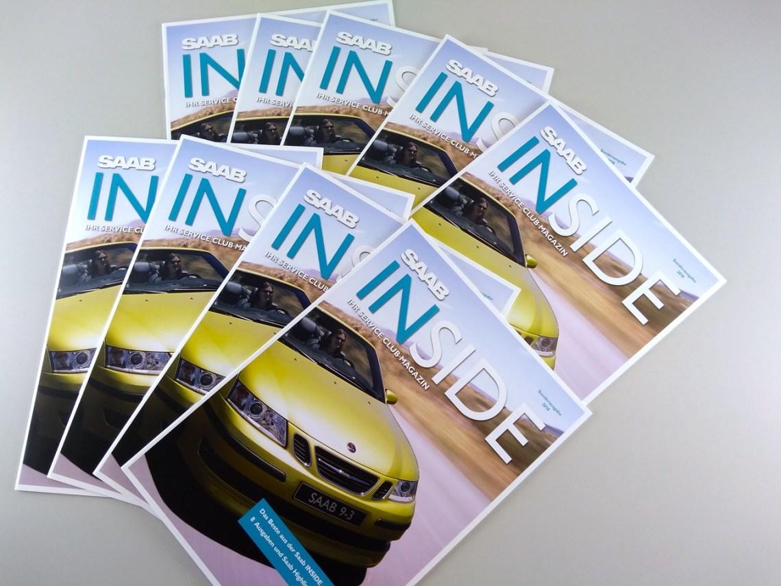 Saab Inside als een gedrukte versie