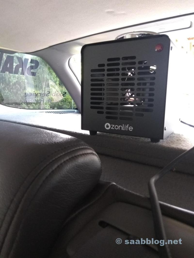 Ozone generator. Best set up at the highest point.