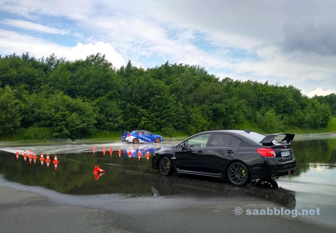 Driftträning med WRX STI på Bilster Mountain