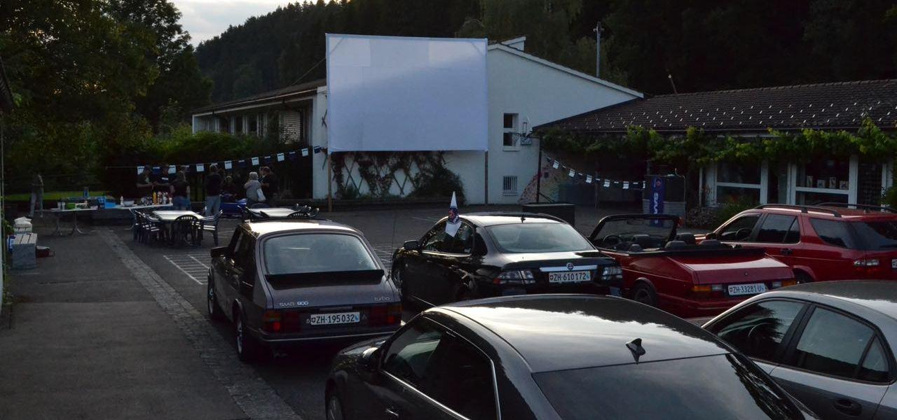 Cinéma drive SAAB au lieu de la transmission WM