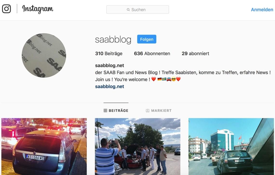 Saab no Instagram
