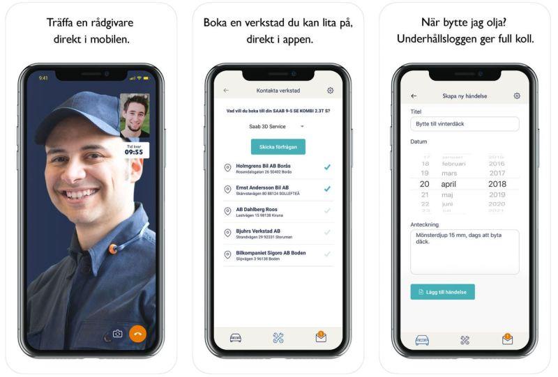 MySaabCar App von Orio