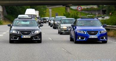 Tudo Saab? 9-5 NG na estrada da cidade em Kiel