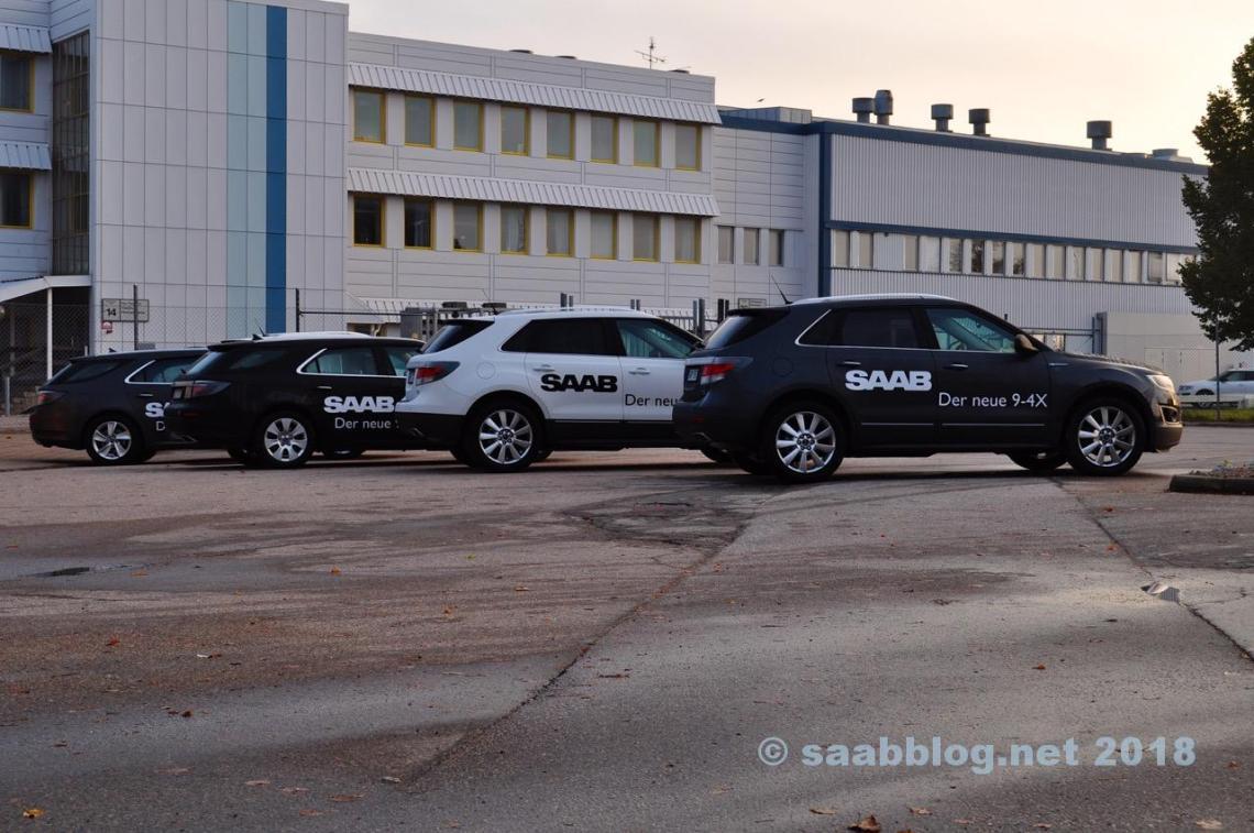 Veel van de pre-series van Saab in oktober 2011 in Trollhättan