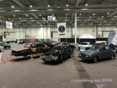 O estande da Saab-Volvo inclui 200 sqm