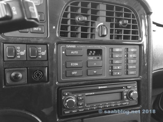 Controllo del clima nella Saab 9000