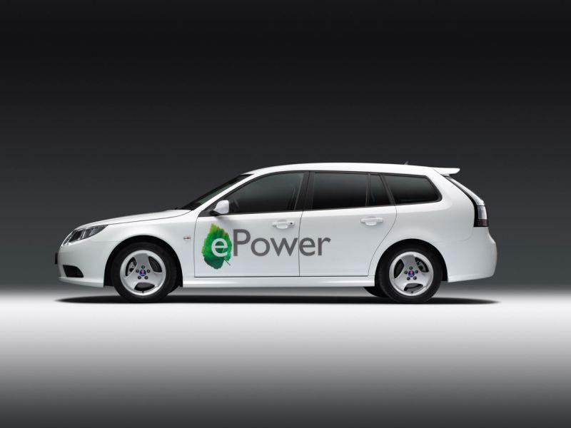 Saab 9-3 e-Power 2011. De echte Saab-elektrische auto