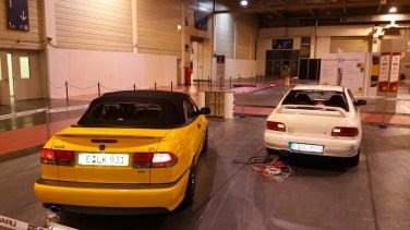 Saab and Subaru on the 51. Food motor show