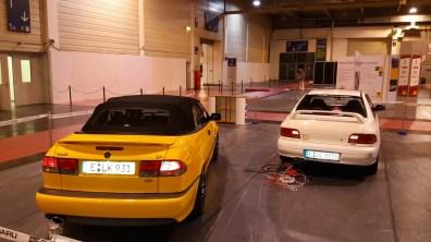 Saab en Subaru op de 51. Voedsel motor show