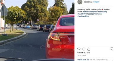 Saab Instagram Foto av oktober månad